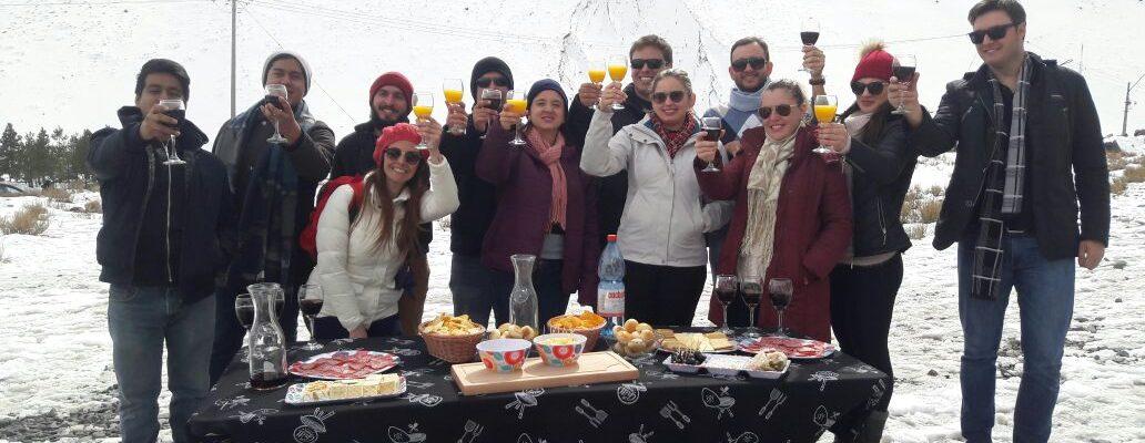(Español) turistas nieve